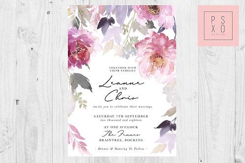 Rancula's Cascading Wedding Invite