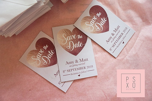 Copper & Blush Save The Date Magnets