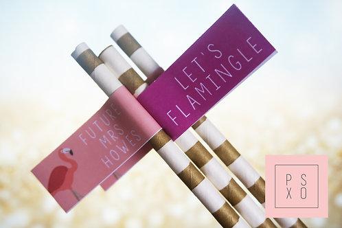 """Let's Flamingle"" Straws"