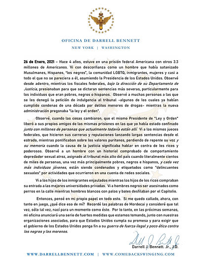 Press Release - Spanish (Office of Darre