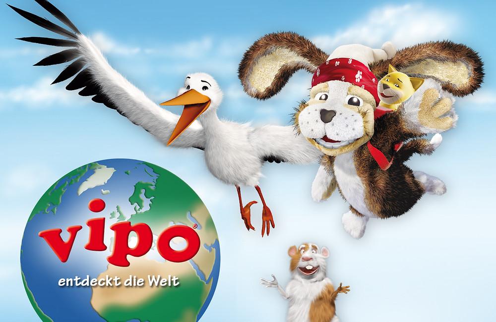 VIPO und seine Freunde erleben bunte Abenteuer auf der ganzen Welt