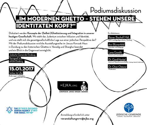 Veranstaltungsankündigung: Im modernen Ghetto - Stehen unsere Identitäten Kopf?