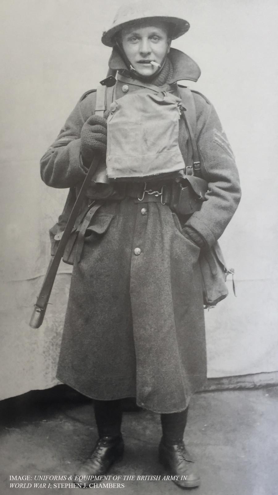 British soldier in WW1 gear.
