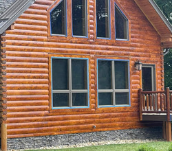 log.cabin.stain.after