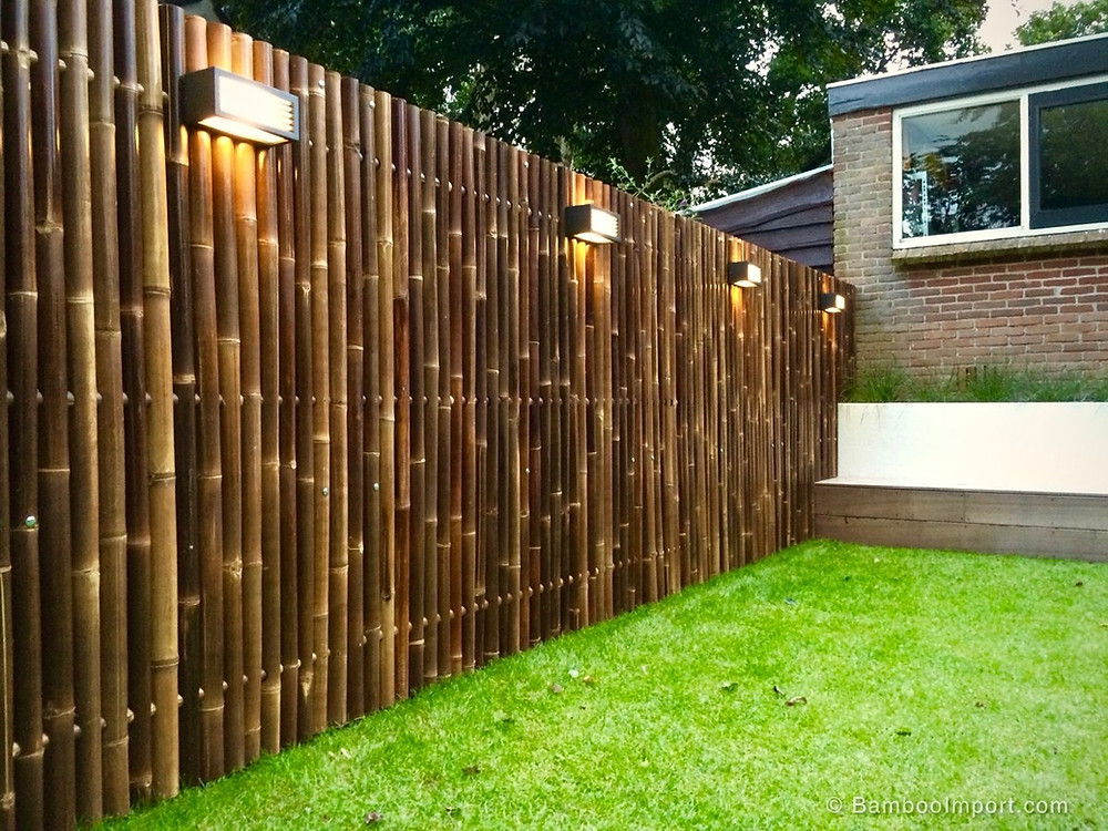 Outdoor Bamboo Fence