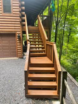 Deck Stairs Stained