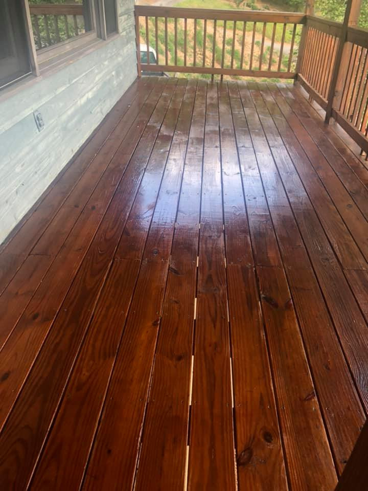 Front Deck Refinished