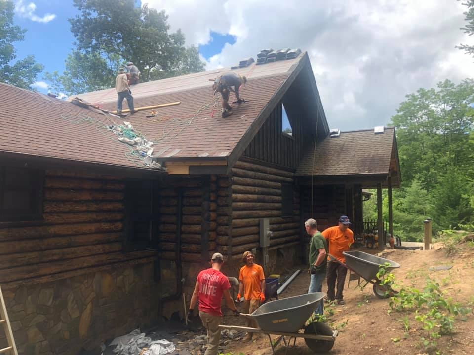 Roof repair and Landscaping