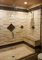 Remodeled Bathroom Shower with Tile
