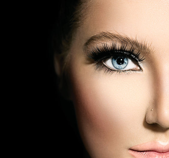 Beauty makeup for blue eyes. Part of bea