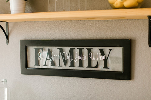 Custom Family Overlay Sign