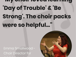 What choir leaders are saying about our choir packs!