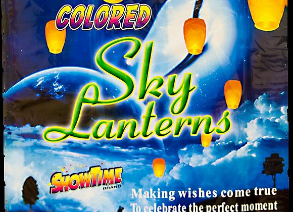 COLORED SKY LANTERN