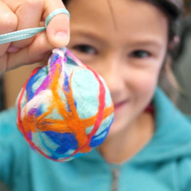 Felted Christmas Bauble