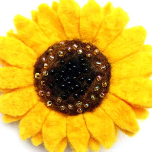 Sunflower Brooch Accessory
