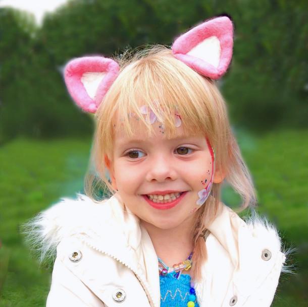 Pink Cat Costume Ears