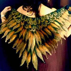 Eagle Owl Felted Winged Cape