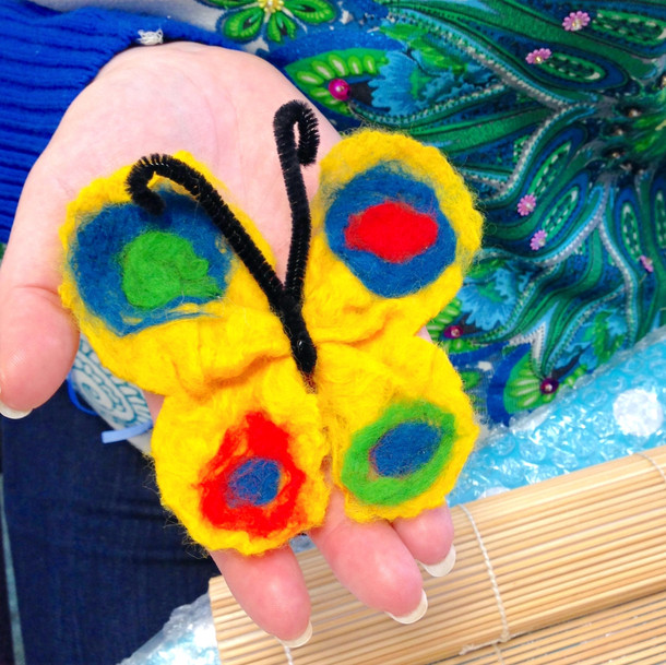 Felted Butterly Hair Accessory