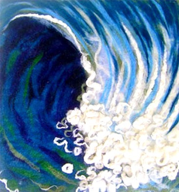 Felted Wave Art
