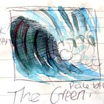 Sketch for the Triptych wave series