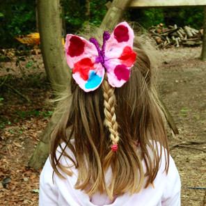 Felted Butterfly Hair Accessory