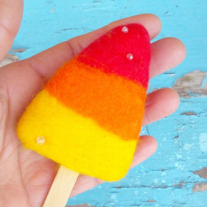 Retro Rocket Ice Lolly Brooch.