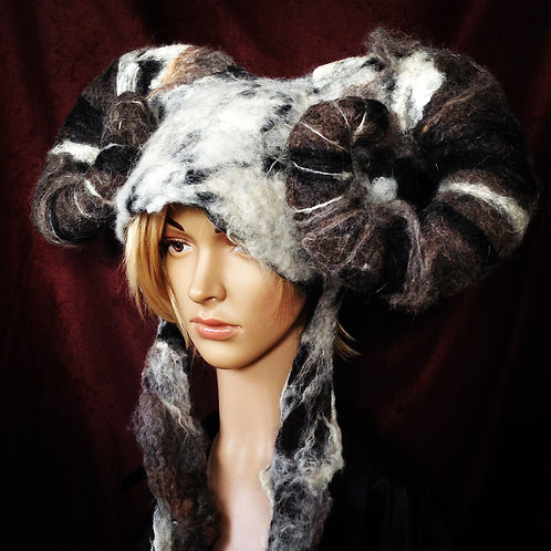 Large Horned Aries Ram Headdress