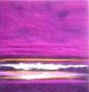 Mini Purple Wave Canvas Art