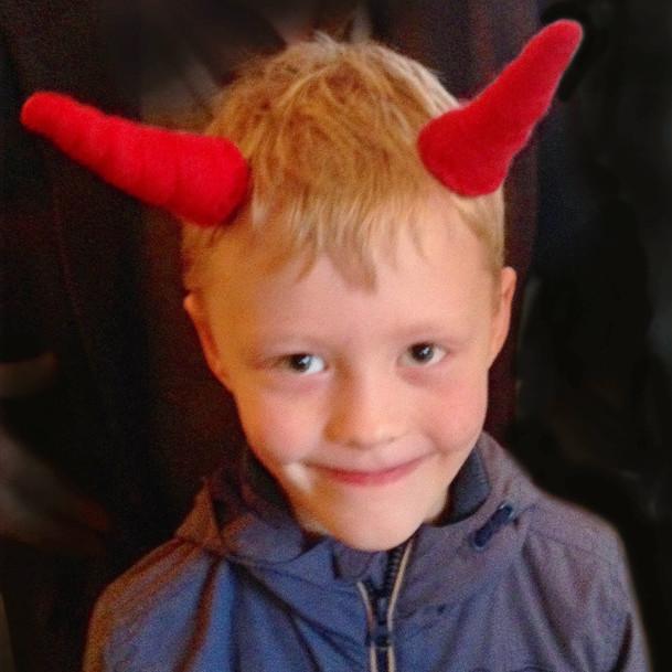 Devil Boy Clip-on Horns