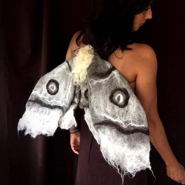 Grey Moth Costume Wearable Art