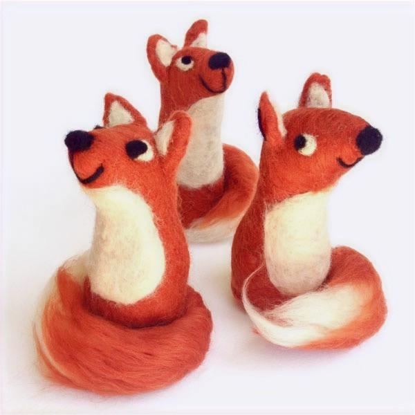 Felted Fox Soft Sculpture