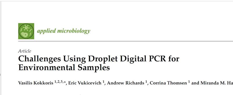 Challenges Using Droplet Digital PCR for Environmental Samples