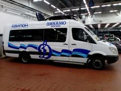 Брендирование микроавтобуса мерседес спринтер оклейка рекламой