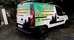 Рекламная оклейка автомобиля фиат дукато