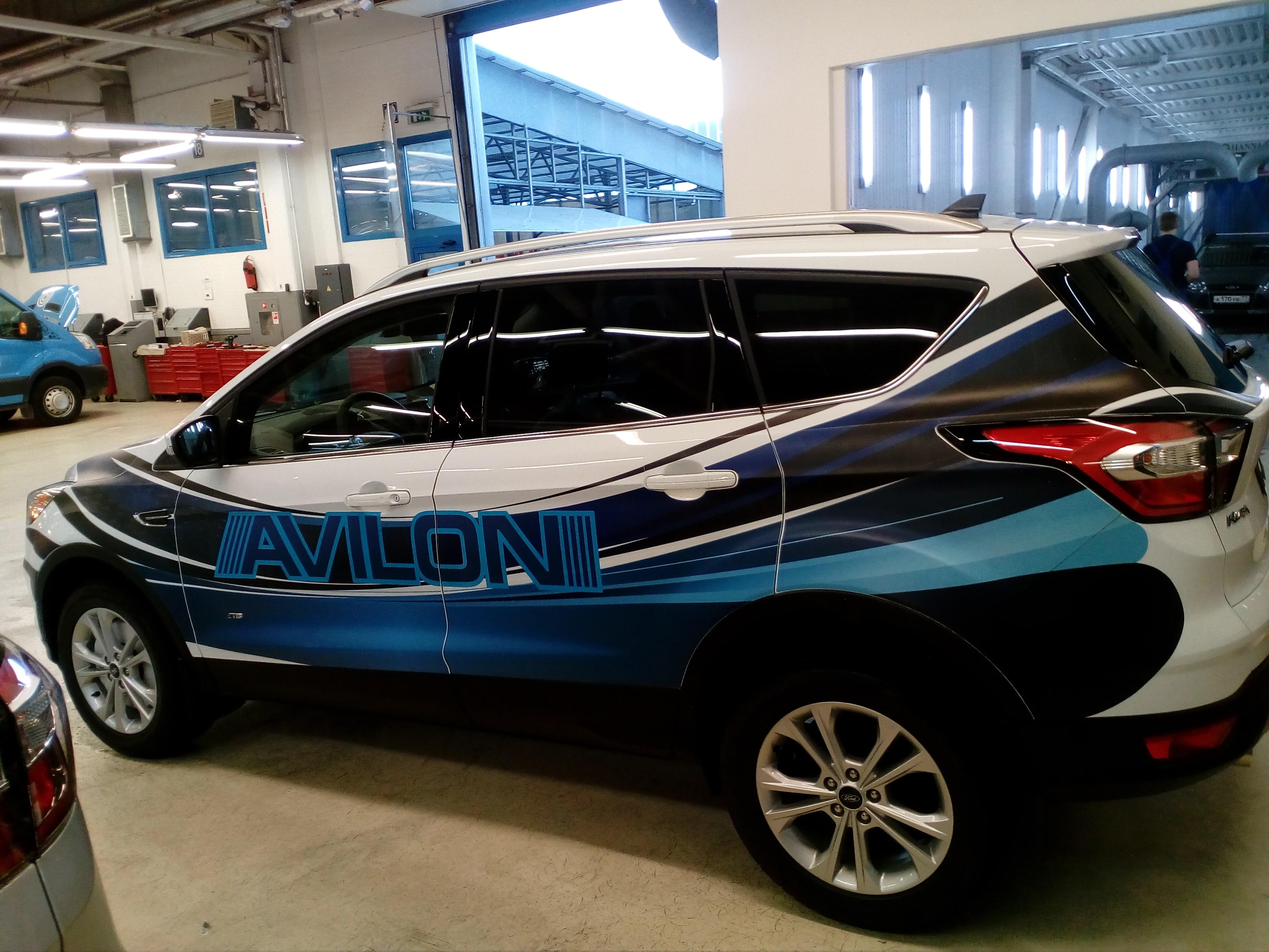 Рекламная оклейка автомобиля Ford Kuga