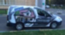 Брендирование автомобиля Peugeot Partner
