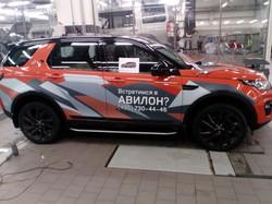 Оклейка автомобиля ренж ровер рекламой, реклама на авто