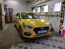 Оклейка авто в желтый цвет на Варшавском