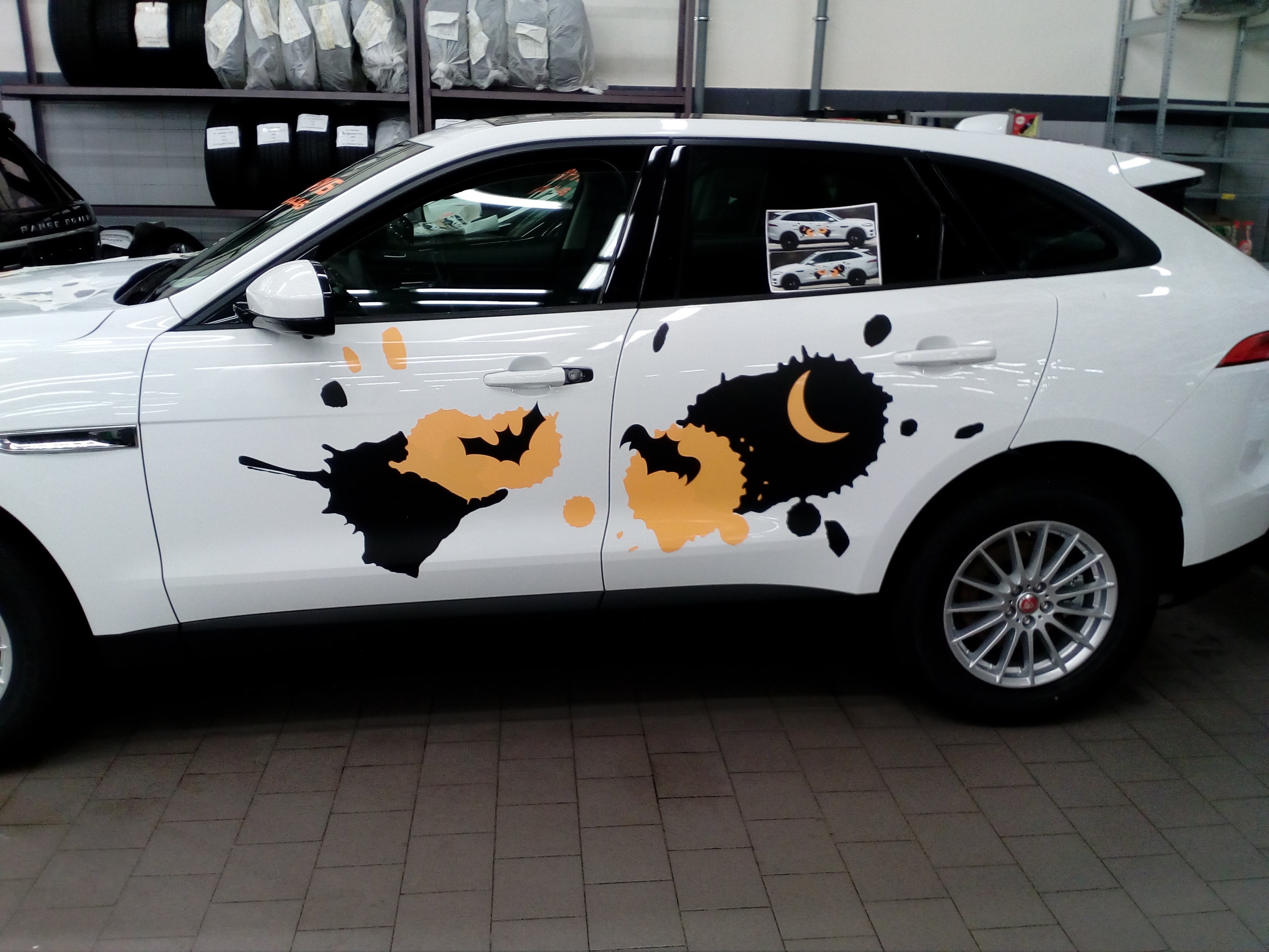 Обклейка автомобиля рекламой ВАО на Волгоградке