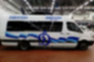 Оклейка микроавтобуса Mersedes Sprinter Classic в Москве цена