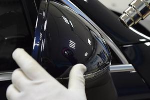 Защитная антигравийная оклейка зеркал заднего вида на авто