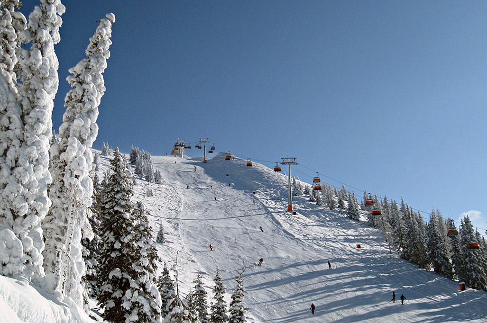 Schneeparadies am Gipfellift