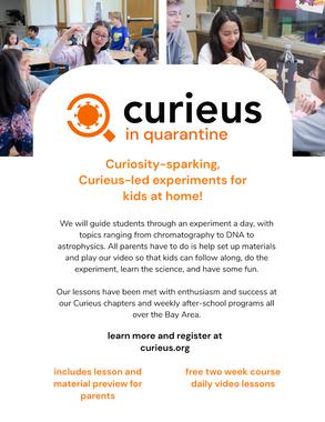 Introducing Curieus In Quarantine!