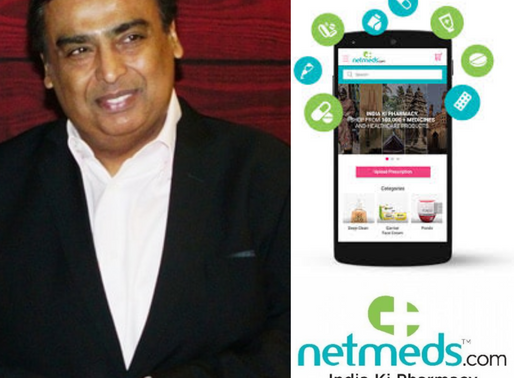 Reliance Retail acquires majority stake in online pharmacy Netmeds