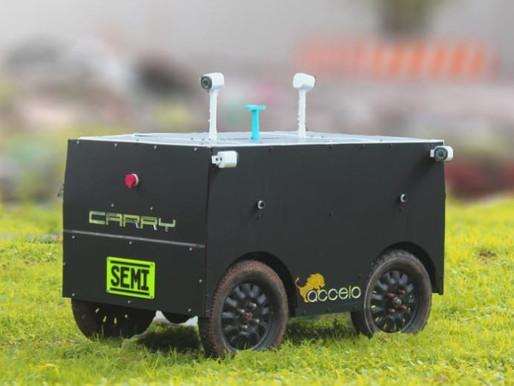 "Accelo develops semi-autonomous electric bot ""CARRY"" to deliver goods"