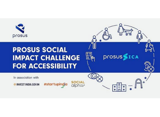 Prosus launches 'Social Impact Challenge for Accessibility' in partnership with Invest India and Soc