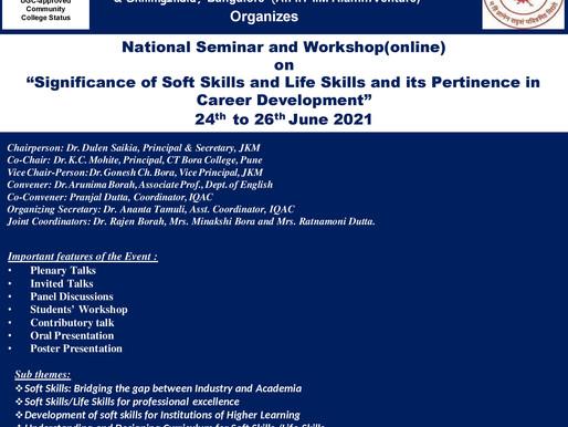Jorhat Kendriya Mahavidyalaya, CT Bora College & SkillingIndia Jointly Organizes a National Seminar