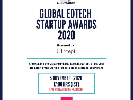 UIncept is delighted to announce the collaboration with the prestigious Global Edtech Startup Awards