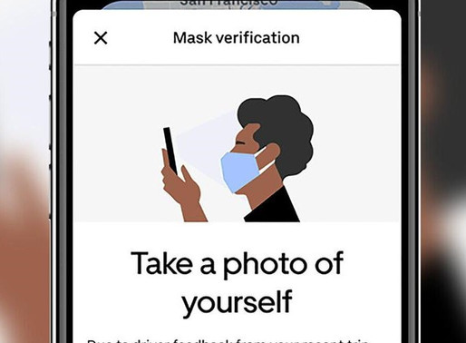 Uber's new policy to ask riders to provide mask selfies