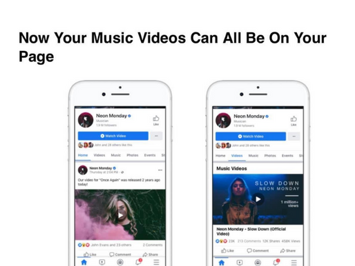 Facebook to launch officially licensed music videos